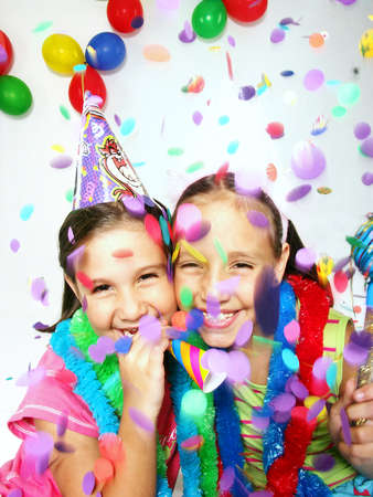 Children at a party 免版税图像