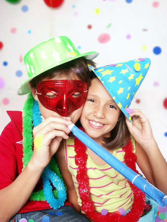 children party: Children at a party Stock Photo