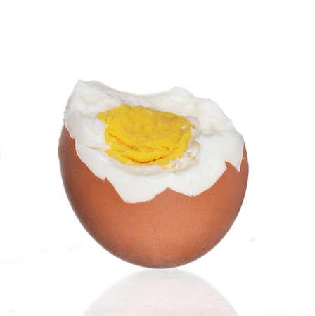 boiled egg isolated on white background. Standard-Bild