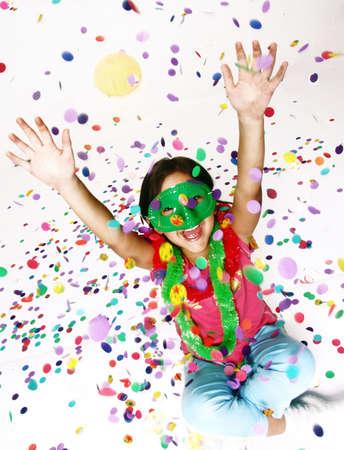 Carnival little girl portrait Stock Photo - 43967317
