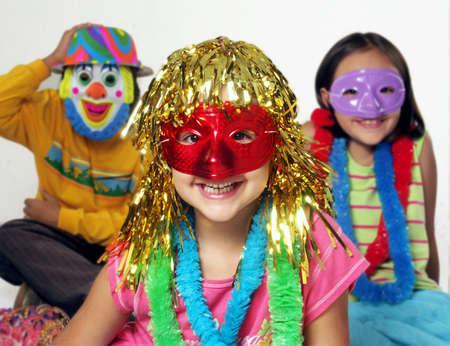 Funny carnival kids portrait