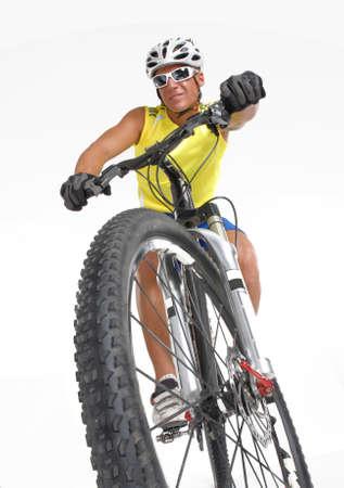 mountain biker: Young mountain biker men.