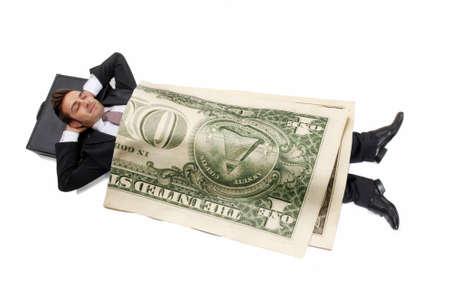 Claro ganancia inversión empresario concepto de dinero.