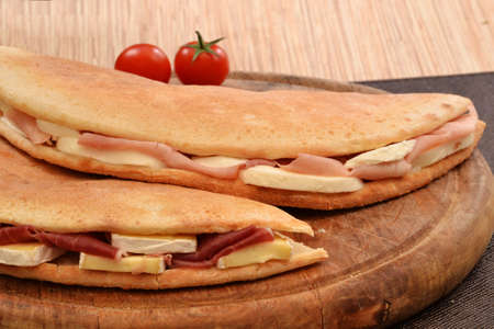 provocative food: Ham and cheese focaccia sandwich