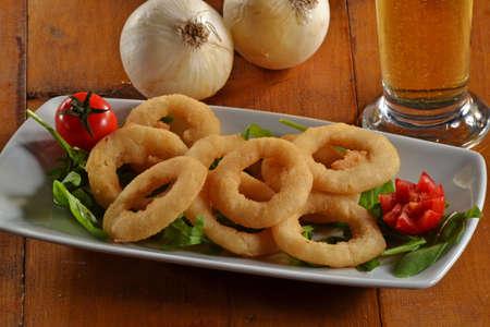 onion rings: Friend onion rings on plate