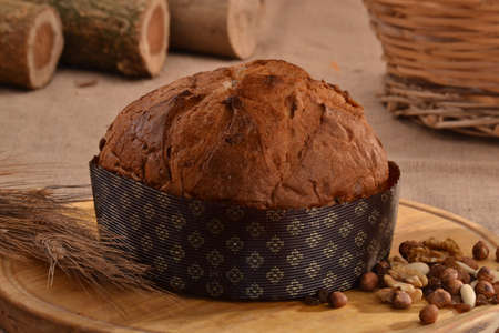 provocative food: Panettone bread and ingredients Stock Photo