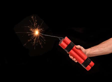 dinamita: Iluminaci�n en un cartucho de dinamita.