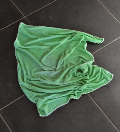 renovated: green rag on floor Stock Photo
