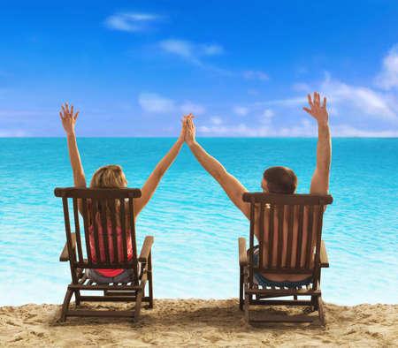 Summer vacation at the beach Stock Photo