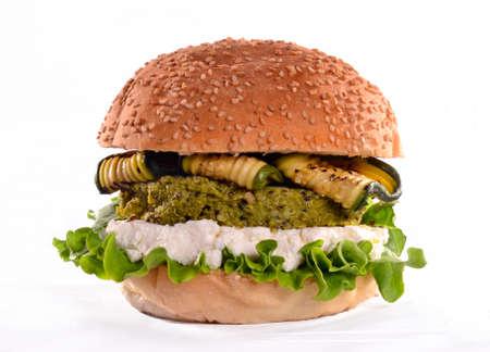 Vegan burger isolated on white background Stock Photo