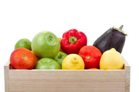 healthy fruits and vegetables photo