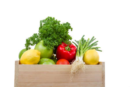 vegetables in box photo