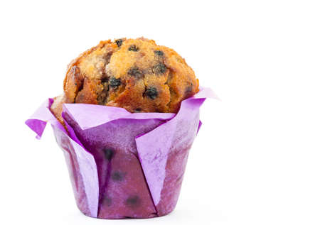 muffin blueberry on white background photo