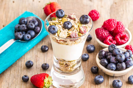 muesli: muesli with fruits Stock Photo