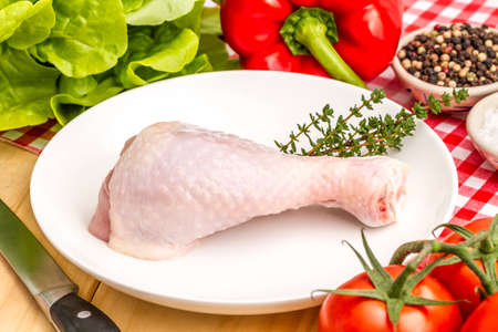 dramatics: chicken dramatics Stock Photo