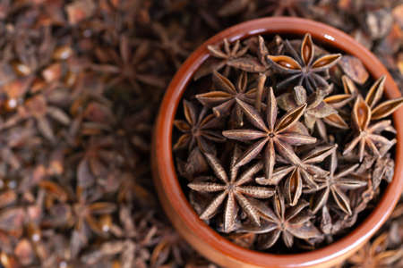 spice anise in a ceramic bowl