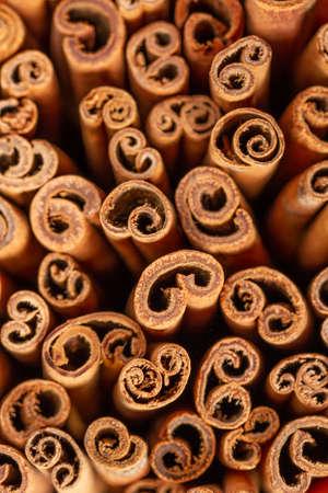 cinnamon sticks close up