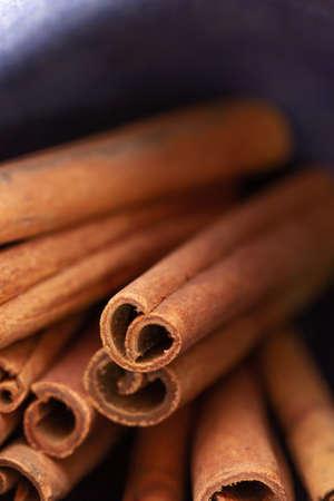 cinnamon sticks, close up Stock Photo