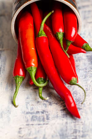 fresh chilli peppers Stock Photo