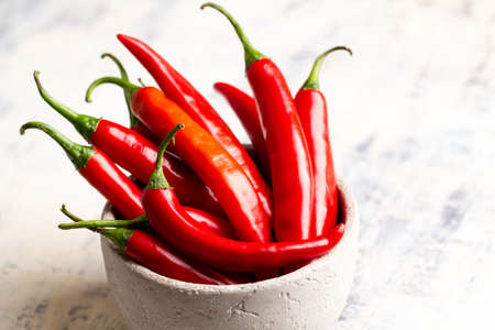 red chilli peppers in a bowl on table