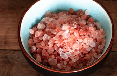 pink salt in a bowl