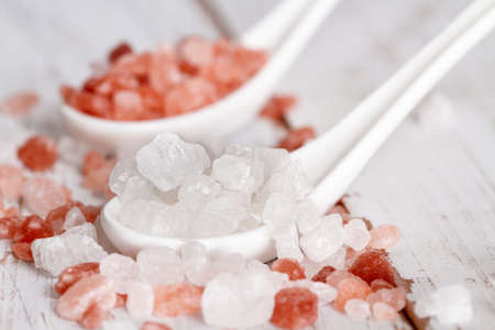 pink and white crystal salt