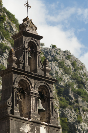 bell tower: Bell tower in the mountains