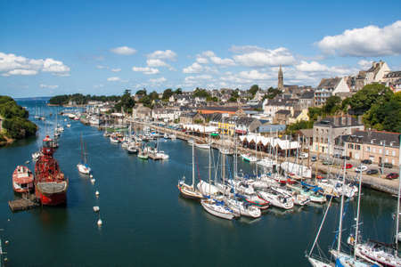 Al boats berthing Port Rhu Douarnenez in Finistere in Brittany - France