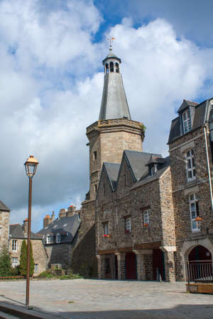 cited: The belfry of Fougeres in Brittany Ile et Vilaine - France