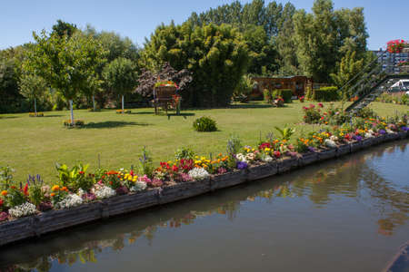 ou: Amiens - The Hortillonnages ou ll water gardens in Picardy - France