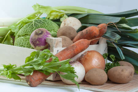 local supply: Vegetables for stew Stock Photo