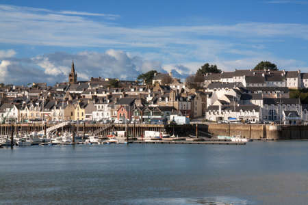 Douarnenez - The entrance to the port of Tréboul in Finistere in Brittany - France