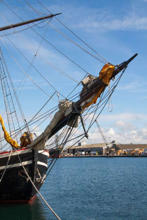 Mat on a galleon Saint Malo in Brittany - France photo
