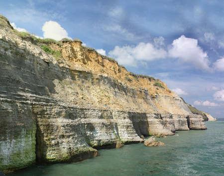 cited: The cliffs at Port en Bessin in Normandy - France
