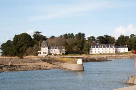 cited: Douarnenez - The island Tristan in Finistere in Brittany - France Stock Photo