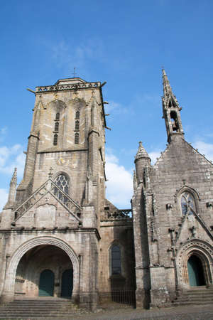 cited: The church and the chapel Saint Ronan Pénity Locronan in Brittany Brittany - France