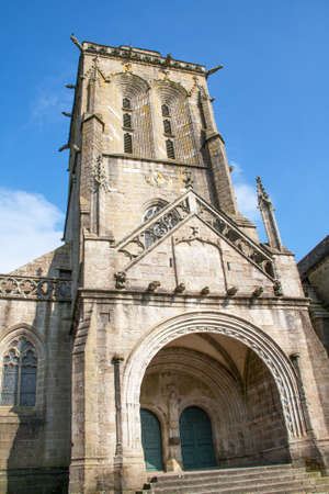 cited: The church of Saint Ronan of Locronan in Brittany Brittany - France