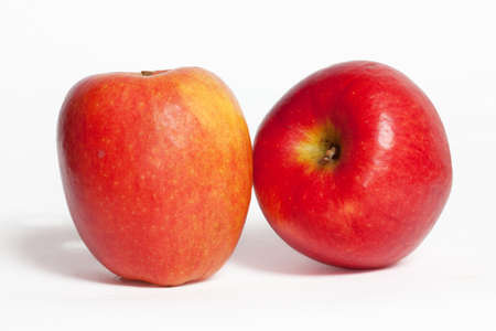 Apple variety Jazz on white background Imagens
