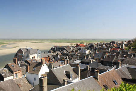 View on the roofs of the town of Saint Valery sur Somme in Picardy - France