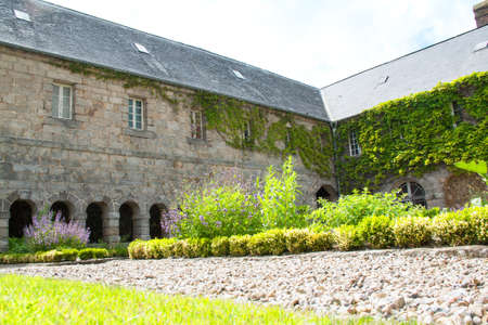 The cloister of the Penitent Saint Valéry en Caux in Normandy photo