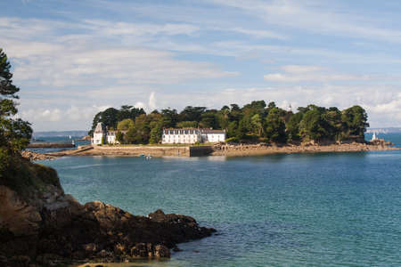 Douarnenez - The Tristan island in Finistere in Brittany - France photo