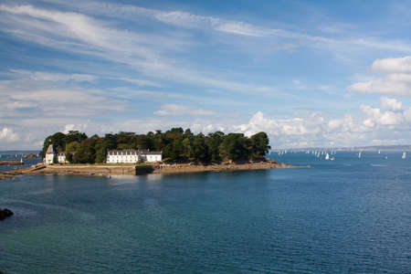 cited: Douarnenez - The Tristan island in Finistere in Brittany - France Stock Photo