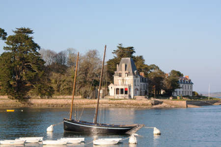 cited: Old rig and Tristan island Douarnenez in Brittany