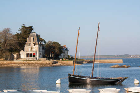 Old rig and Tristan island Douarnenez in Brittany photo