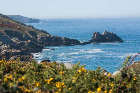 The wild coast to the tip of the Thousand in Finistere in Brittany - France