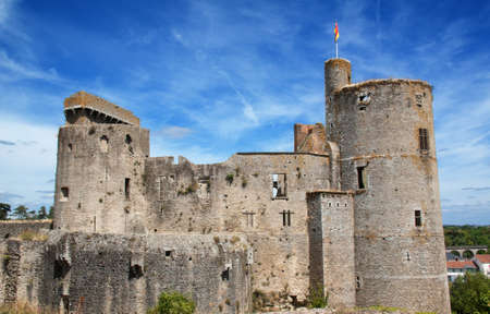 feudal: The feudal castle of Clisson in the Loire Atlantique in the Pays de Loire - France