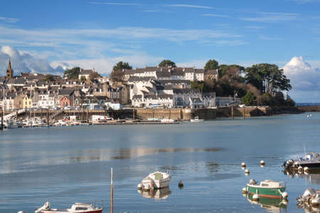 cited: Douarnenez - L  'between the port of Trboul Finistre in Brittany - France Stock Photo