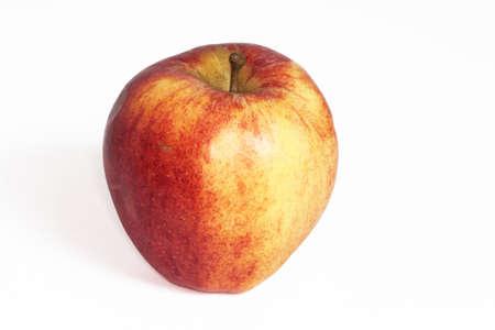 bicolor: Bicolour apple on white background
