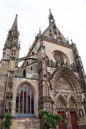 haut rhin: Collegiate Saint Thibaut de Thann in Alsace, Haut Rhin