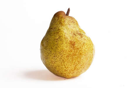 Comice pear - Pyrus communis - on white background
